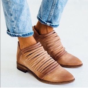 Free People Tan Lost Valley Ankle Booties